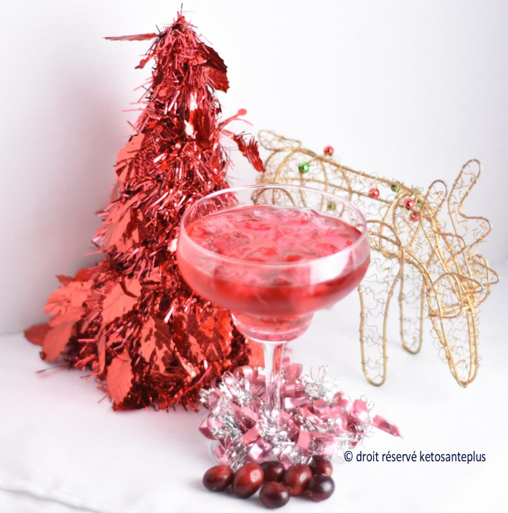 Cocktail de Noël keto