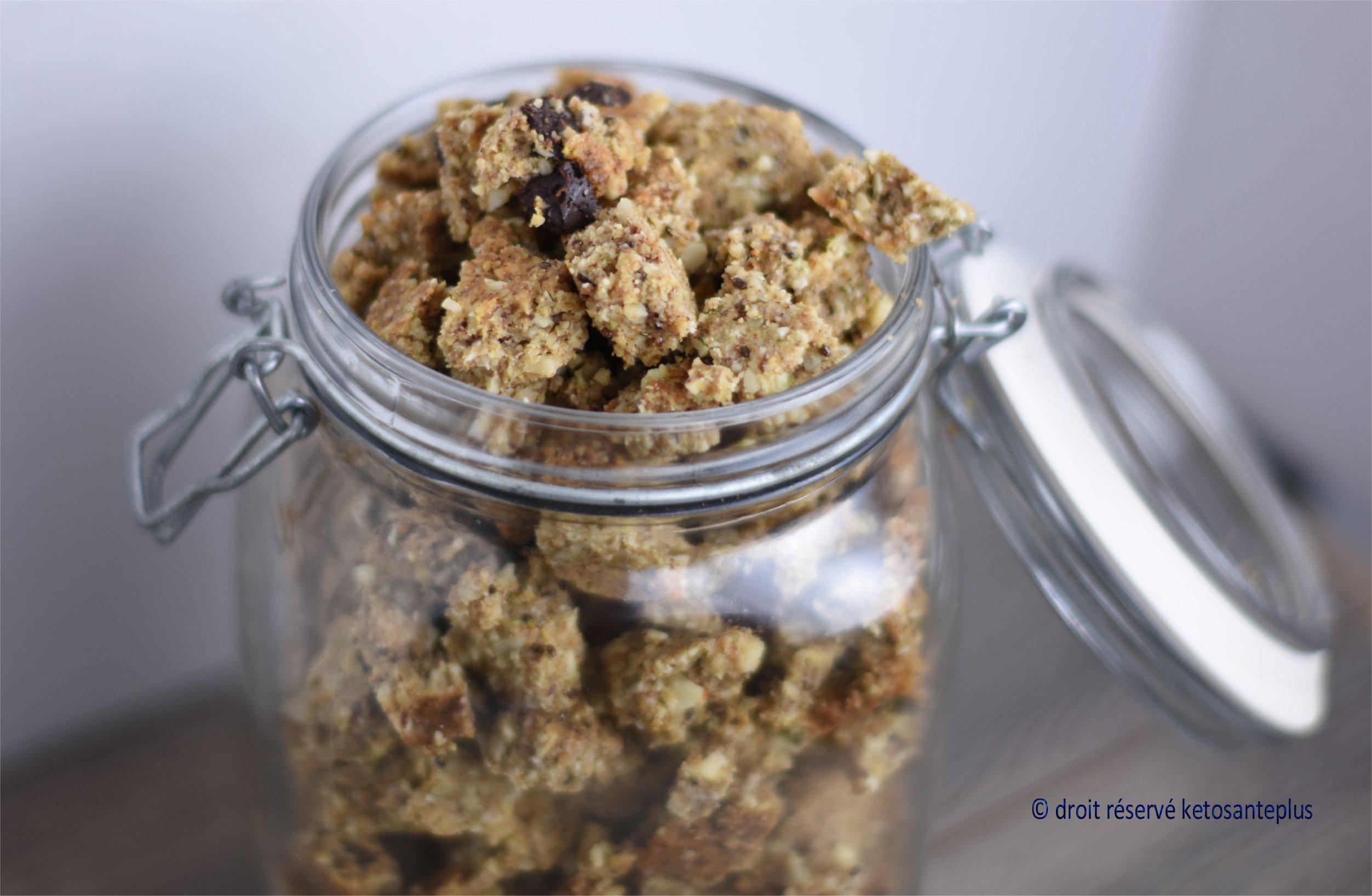 Céréales granola protéinées keto