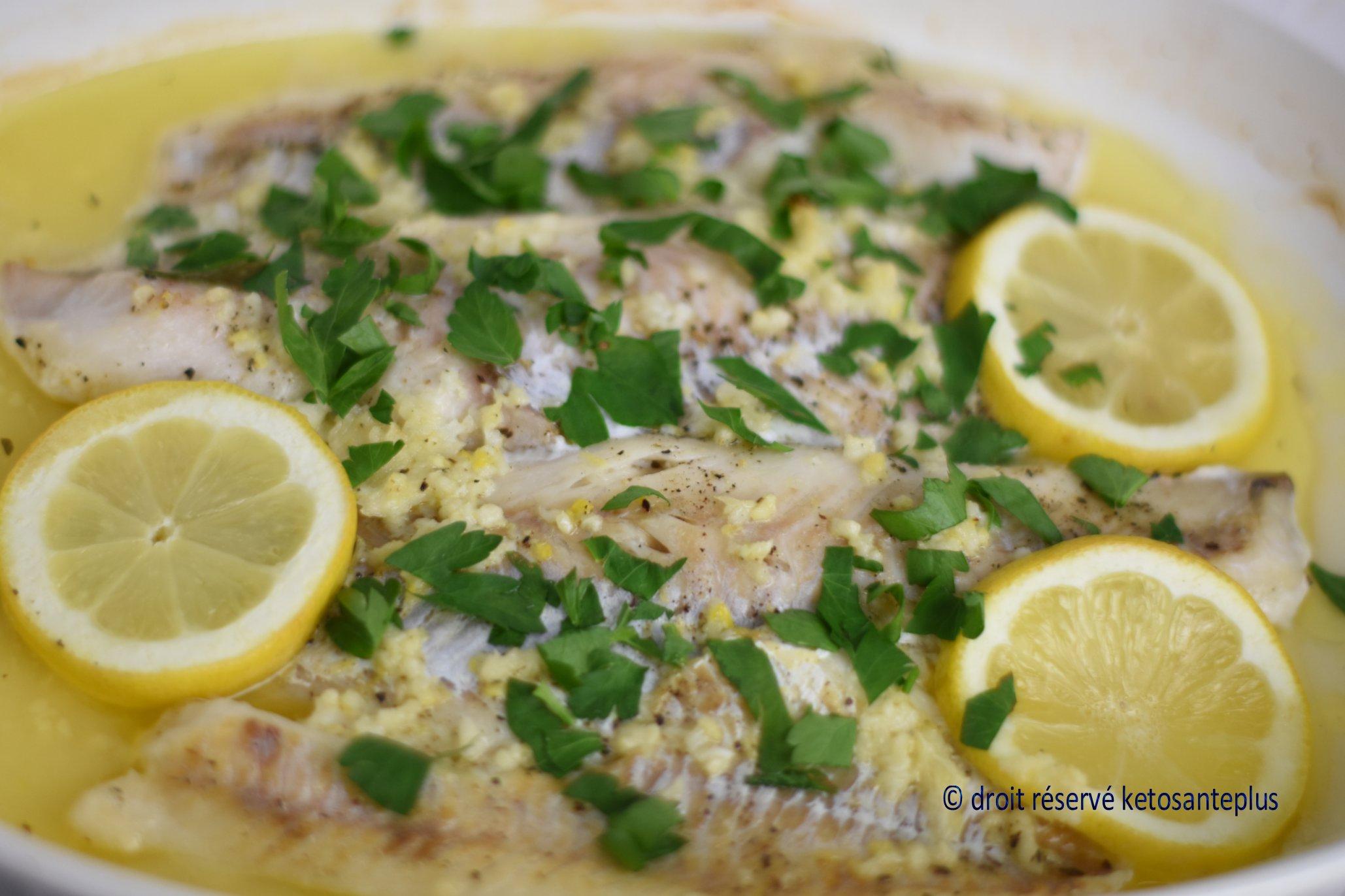 Poisson au beurre et au citron keto