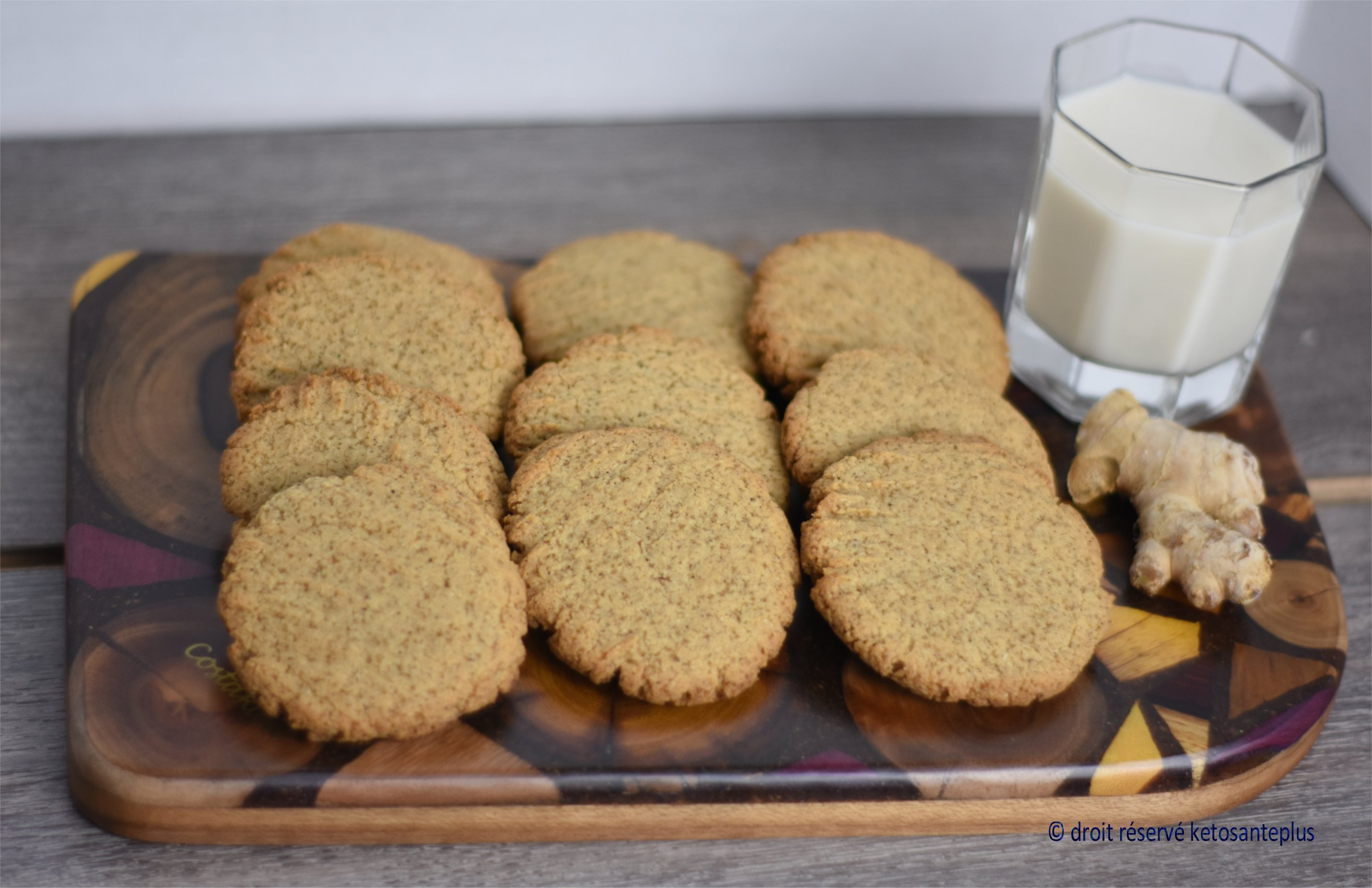 Biscuits au gingembre keto