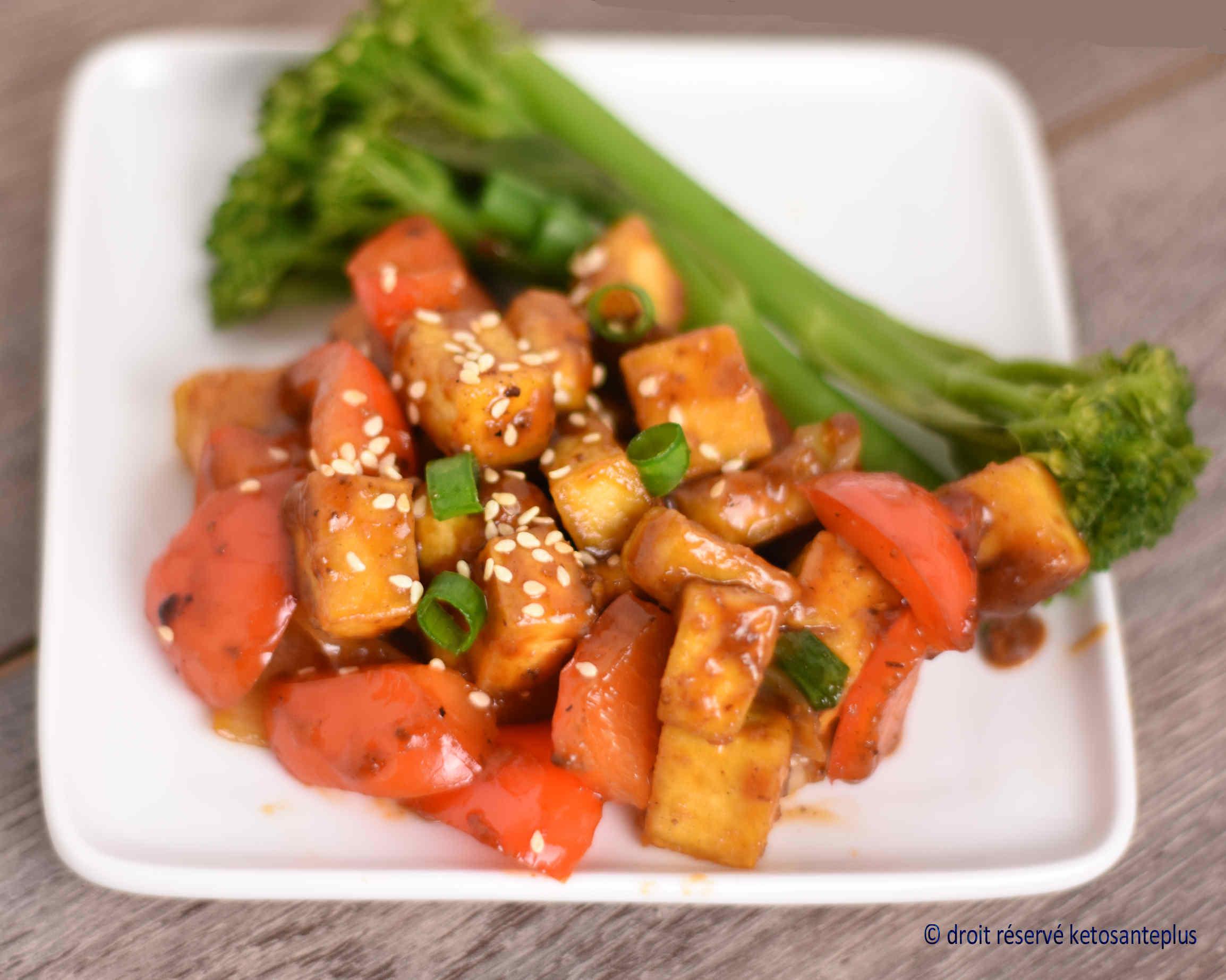 Tofu général Tao keto