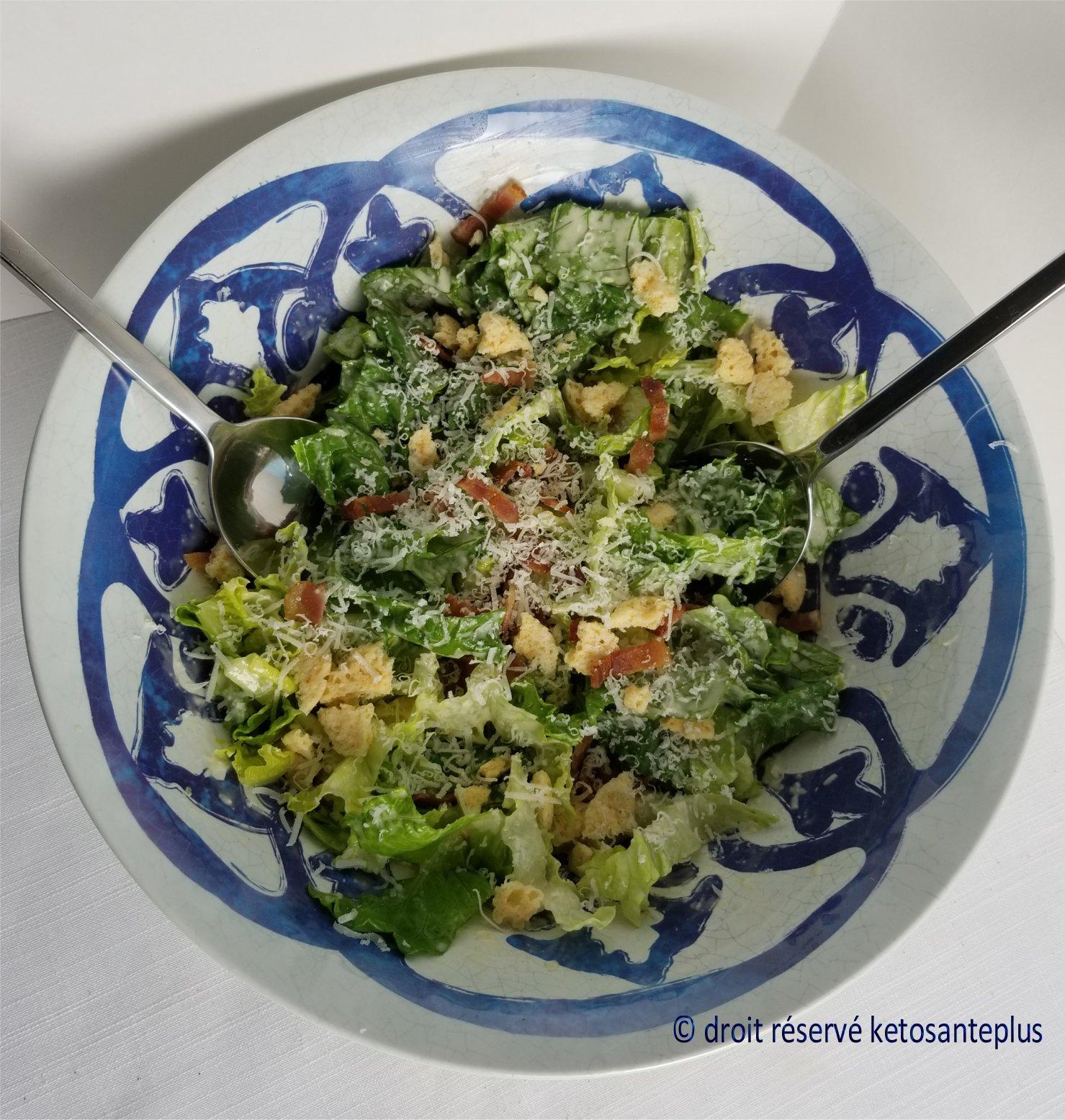Salade césar keto