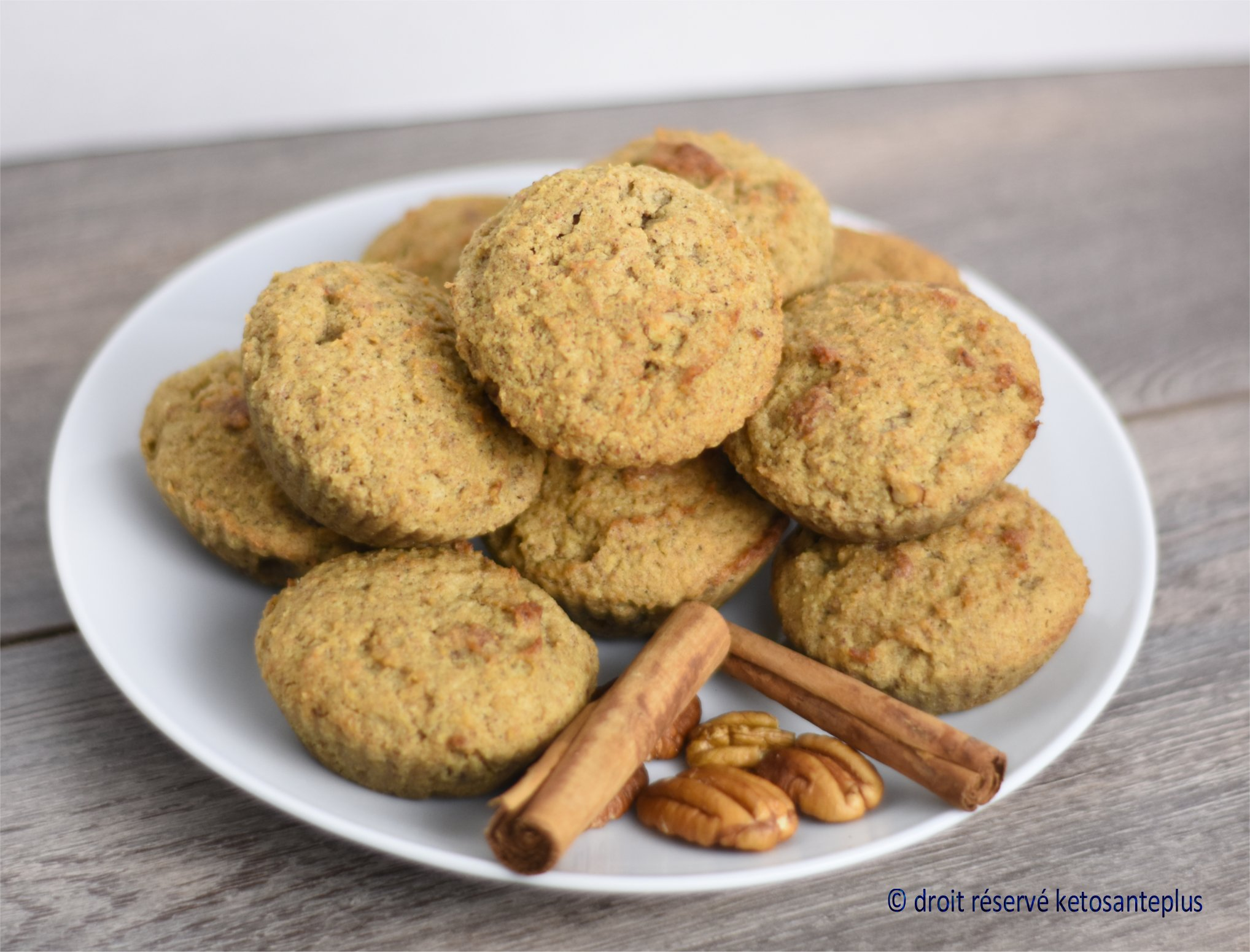 Muffins pain d'épices keto