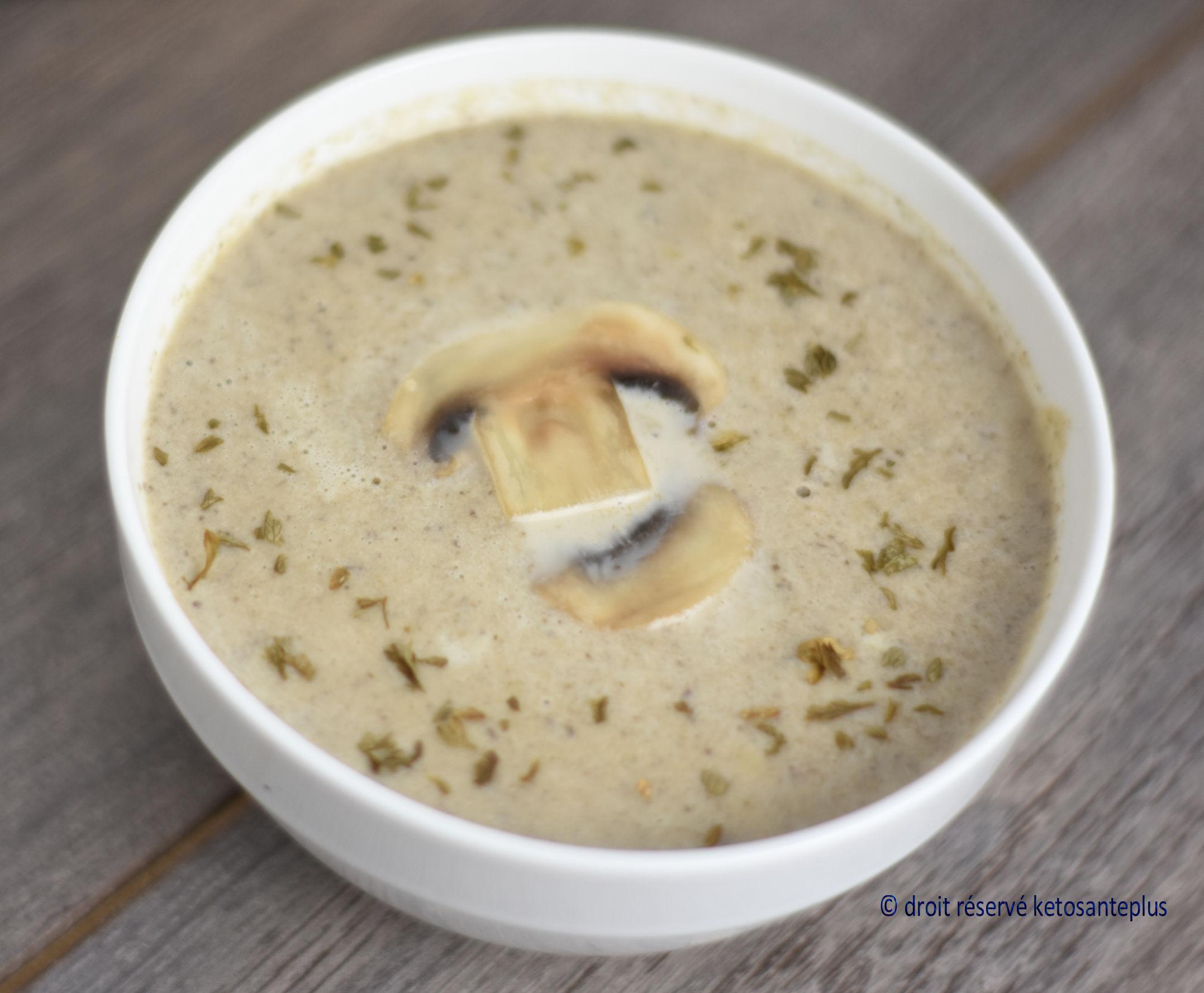 Crème de champignon keto