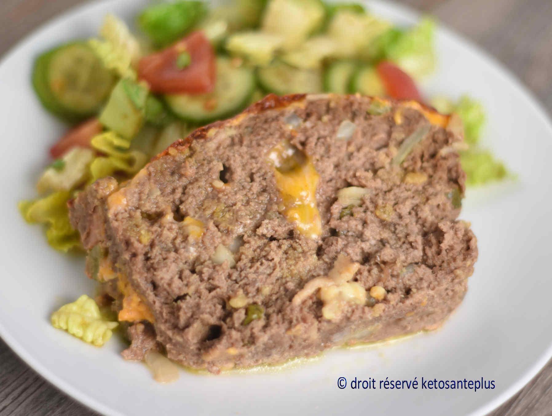 Pain de viande cheeseburger