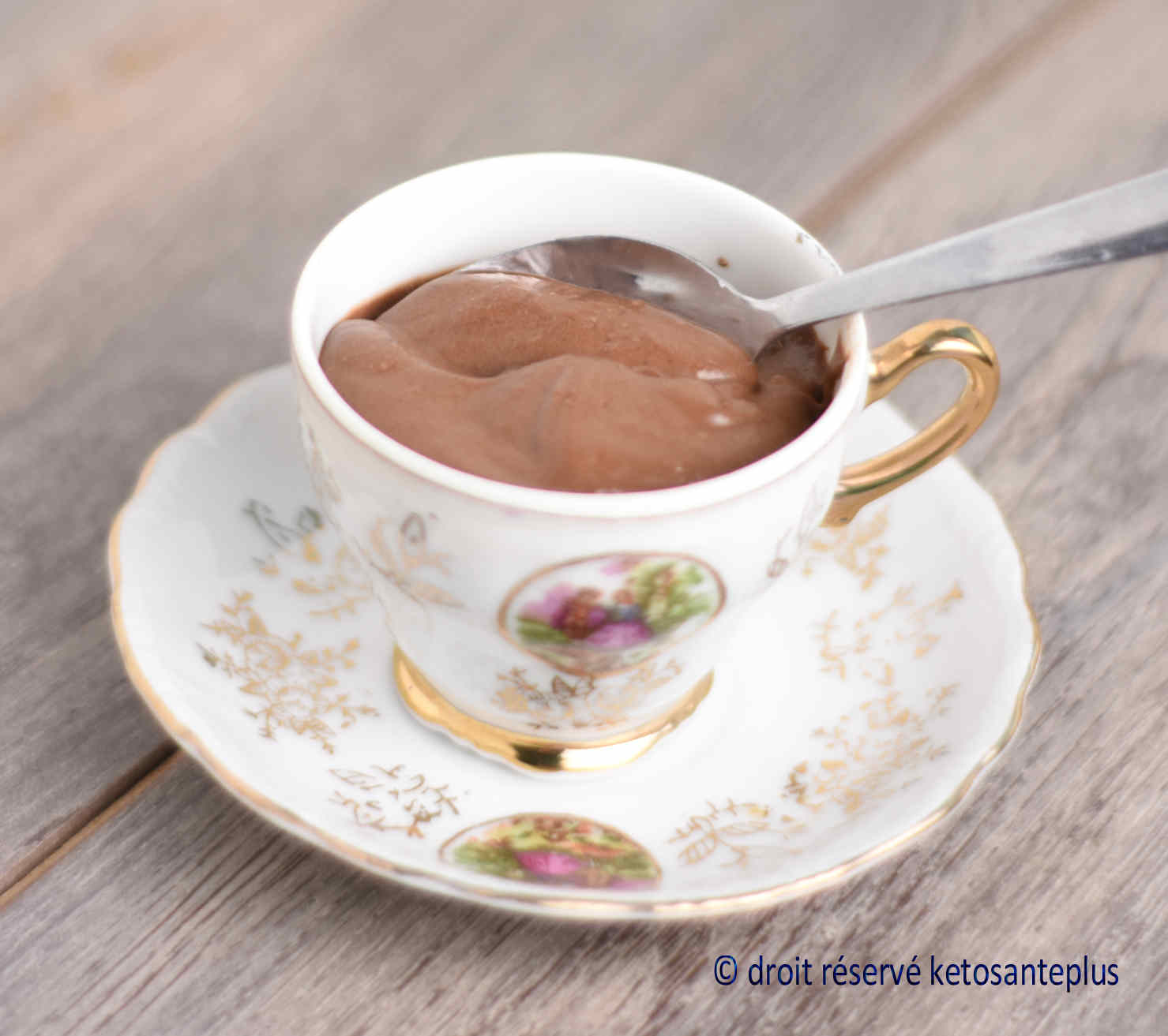 Pouding au chocolat keto
