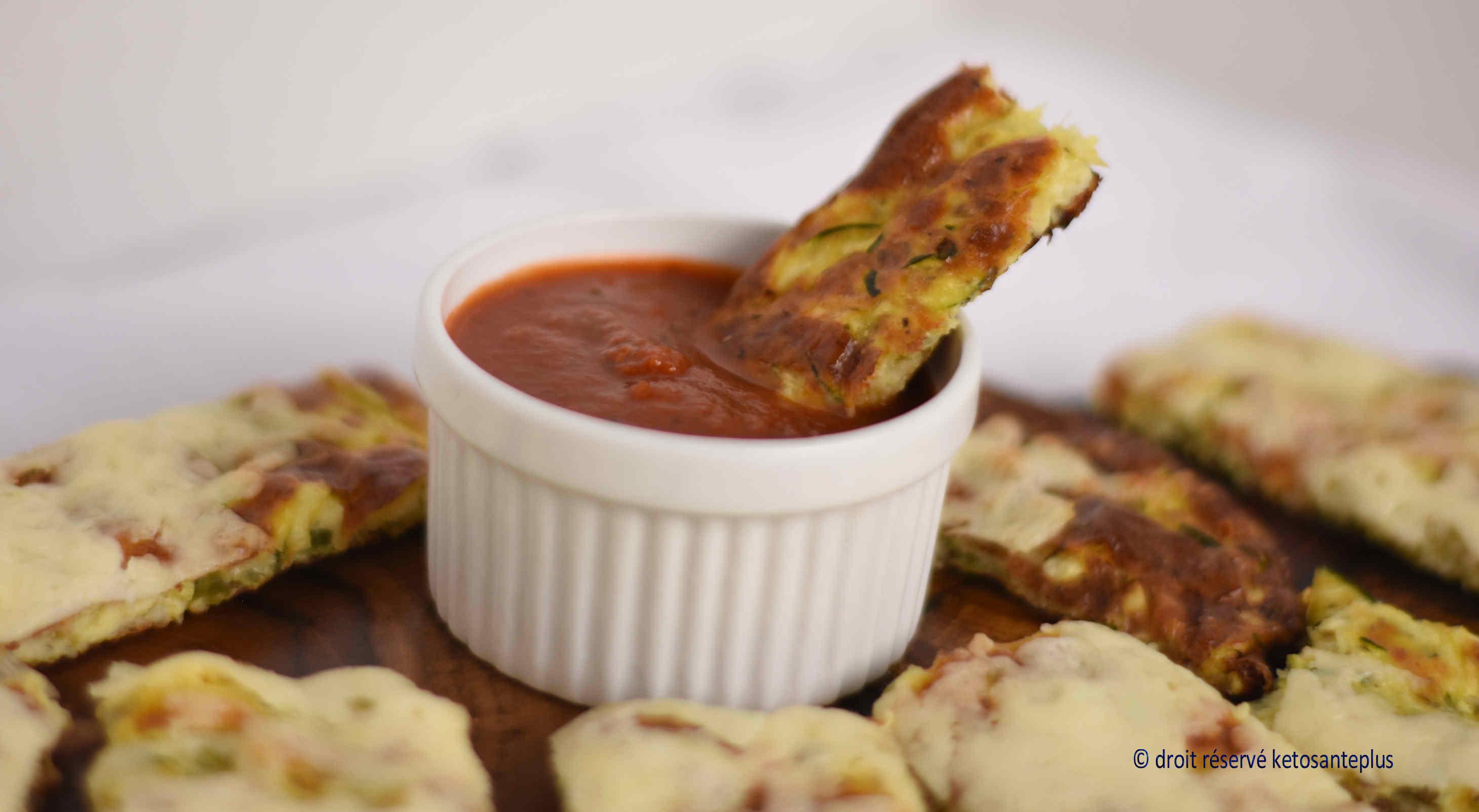 Bâtonnets aux courgettes et au fromage